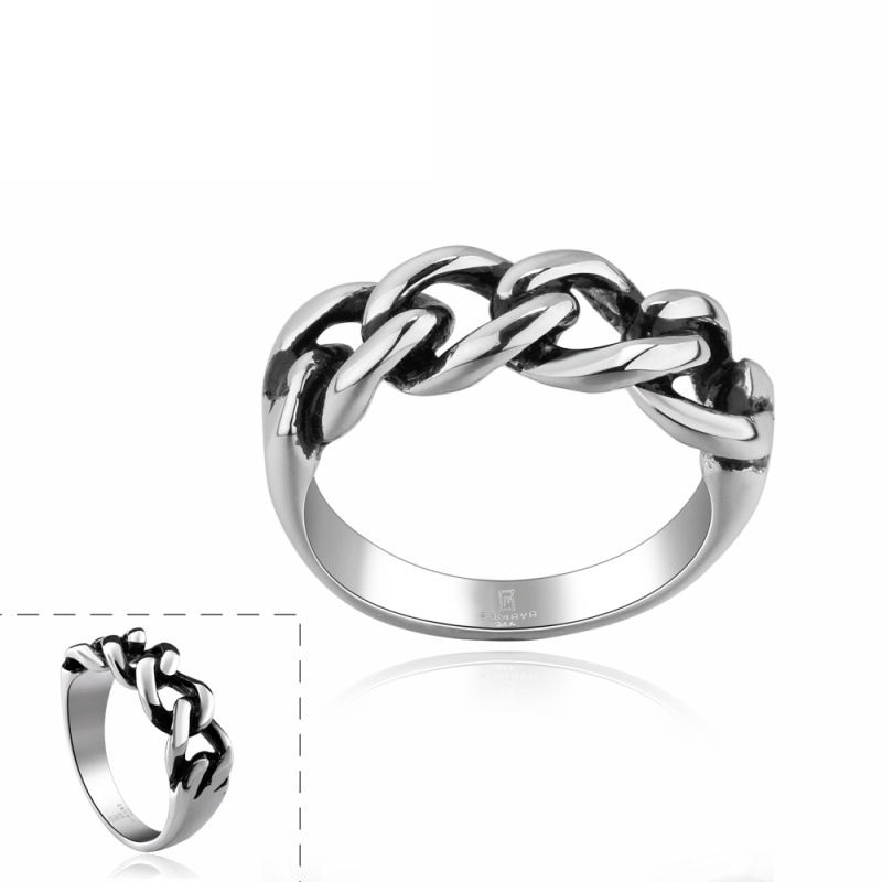 Fashion Jewelry Bow Knot Design Ring Punk Style 316L Stainless Steel Dress Accessories for Men