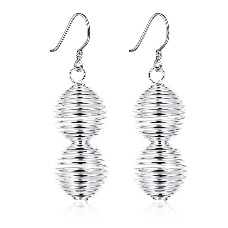 New Fashion Wedding Jewelry 925 Sterling Silver Tassels Long Drop Dangle Earrings For Women