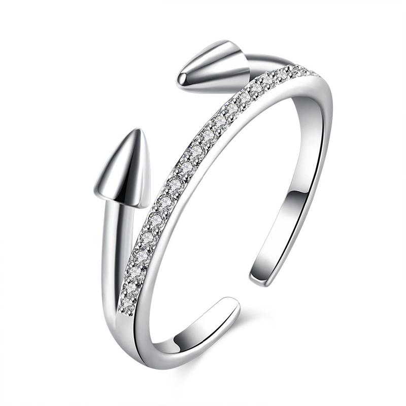 New Design 925 Sterling Silver Rings For Women Fine Jewelry Personalized Open Ring Inlaid AAA Zircon Rings for Women