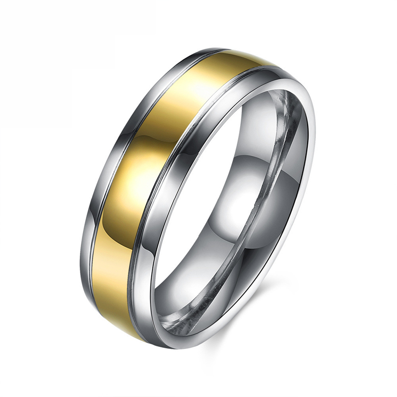 Popular Jewelry New Fashion Men Titanium Steel Romantic Wedding Bands Design Finger Ring Party for Men