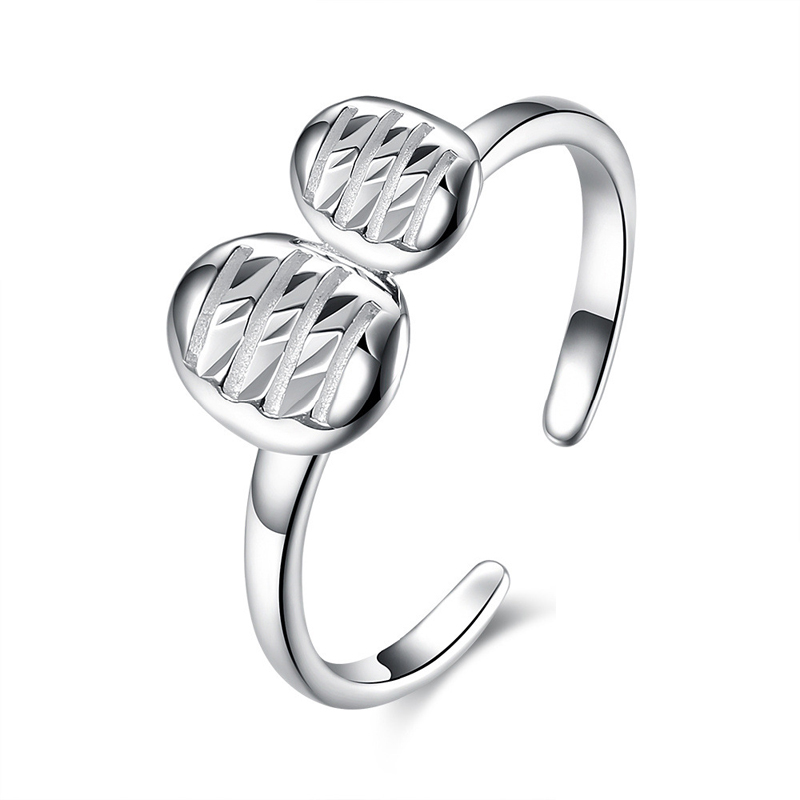 High Quality 925 Sterling Silver Leaf Open Finger Ring Fashion Jewelry Street Style Rings For Women