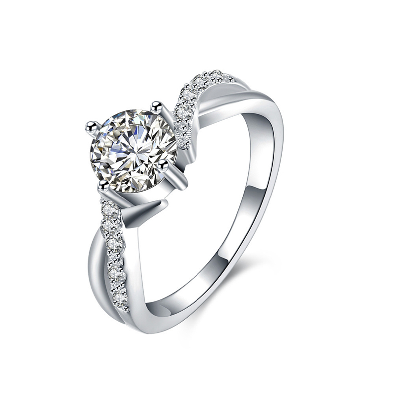 New Fashion Silver Jewelry Silver Plated Cubic Zirconia Jewelry Ring Hot Sale For Women
