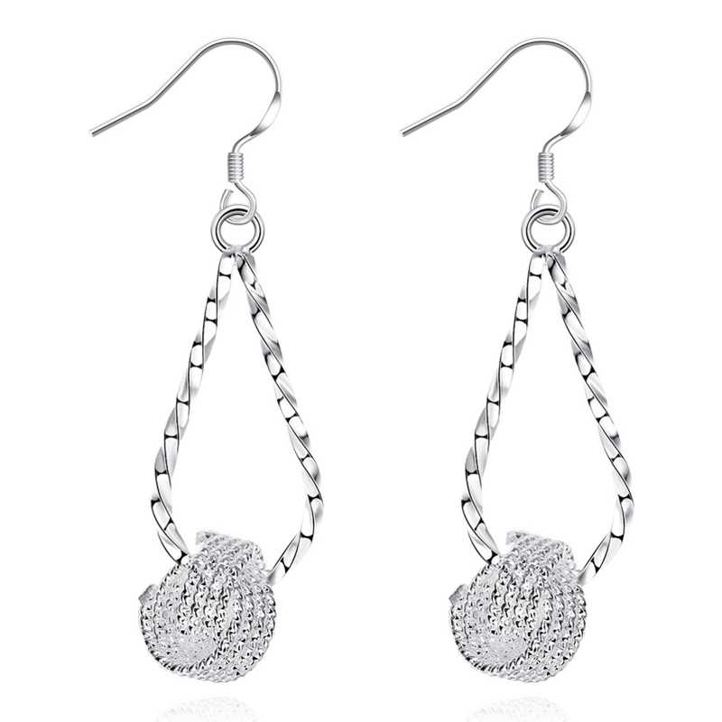 New Design Exaggerated Long Double Round Twist Dangle Earrings for Women Party Vintage Accessories Jewelry