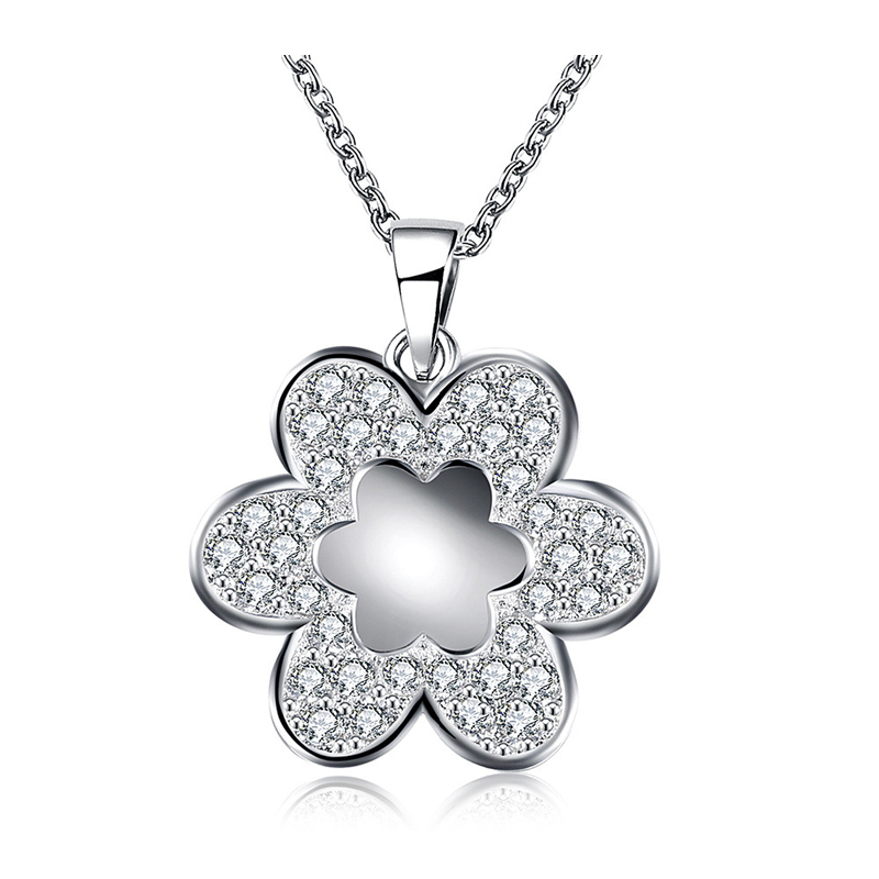 Flower Pattern Pendant Necklace Top CZ Diamond Paved Thomas Style Fashion Jewelry Luxury Party For Women