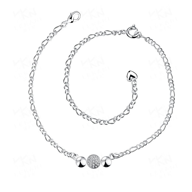 Fashion Jewelry Silver Jewelry Anklets Bulk Sale Zircon Crystal Jewelry for Women