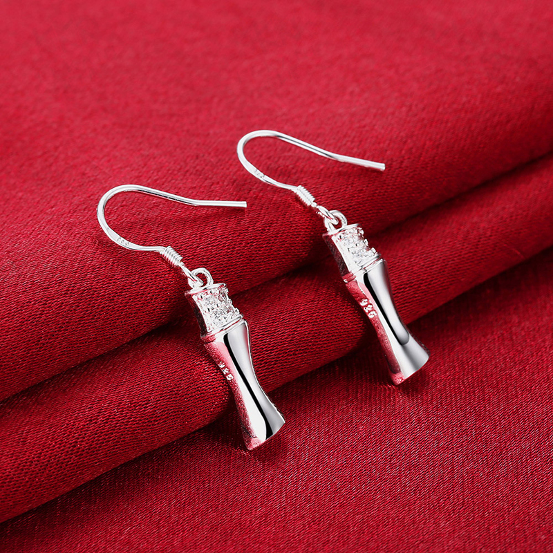 New Arrival Fashion Jewelry Silver Plated Cubic Zirconia Drop Earrings for Fashion Lady