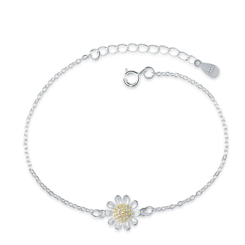 Fashion Anklets Sunflower 925 Sterling Silver for Women F021