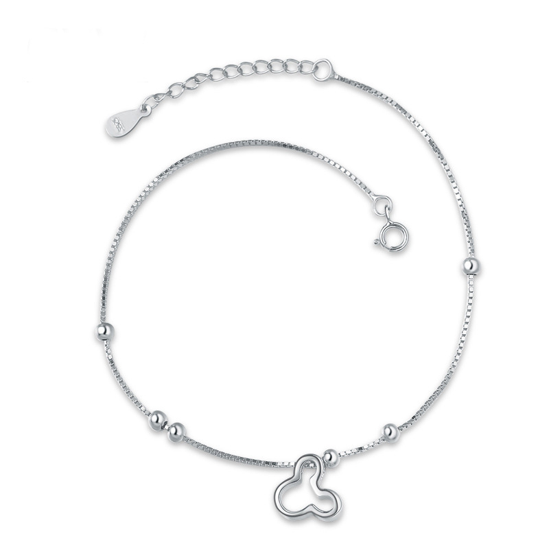Mickey Cartoon Fashion Anklets 925 Sterling Silver for Women F020