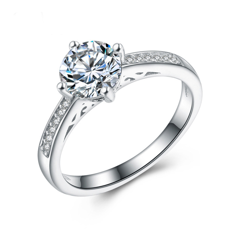 Diamond Jewelry Ring 925 Sterling Silver Ring for Women E662