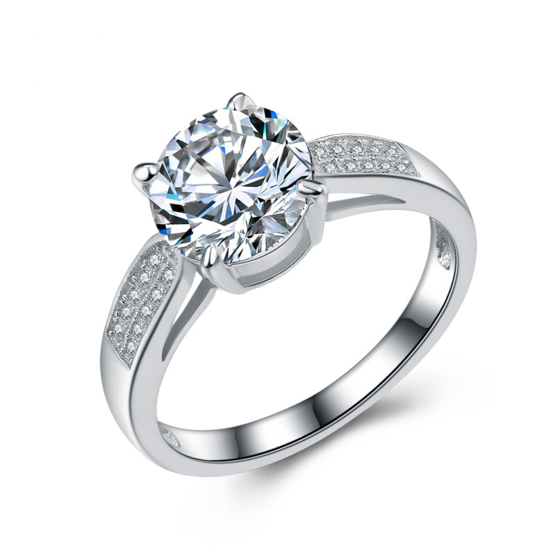 Fashion Elegant Diamond Ring 925 Sterling Silver Ring for Women E670