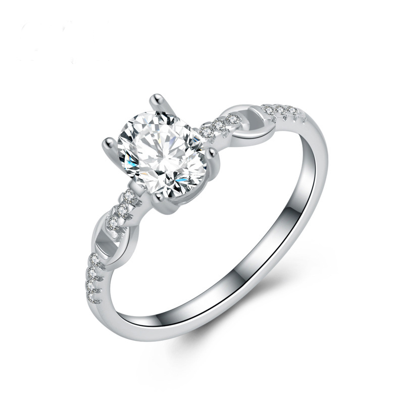 Fashion Diamond Ring 925 Sterling Silver Ring for Women E303