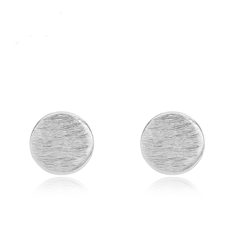Circular Shaped Earrings 925 Sterling Silver Earrings B094