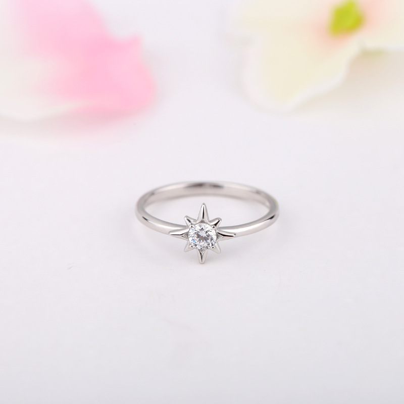 Three-Piece Fashion Ring 925 Sterling Silver Ring for Women E851