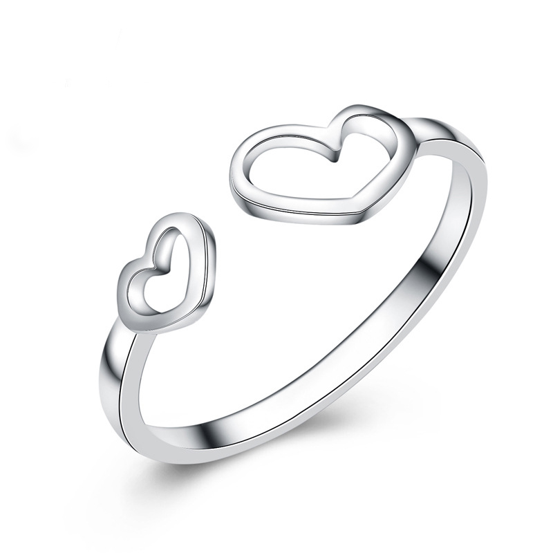 Fashion Skleton Heart Ring 925 Sterling Silver Ring  for Women E187