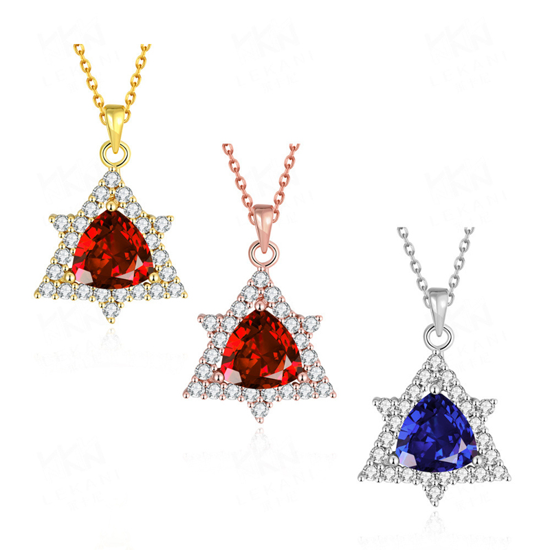 Fashion Diamond Necklace Yellow Gold/Rose Gold/Silver Pendant KZCN109