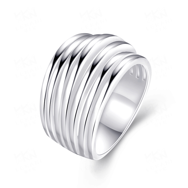 Simple 925 Sterling Silver Ring for Women R033-7 R033-8