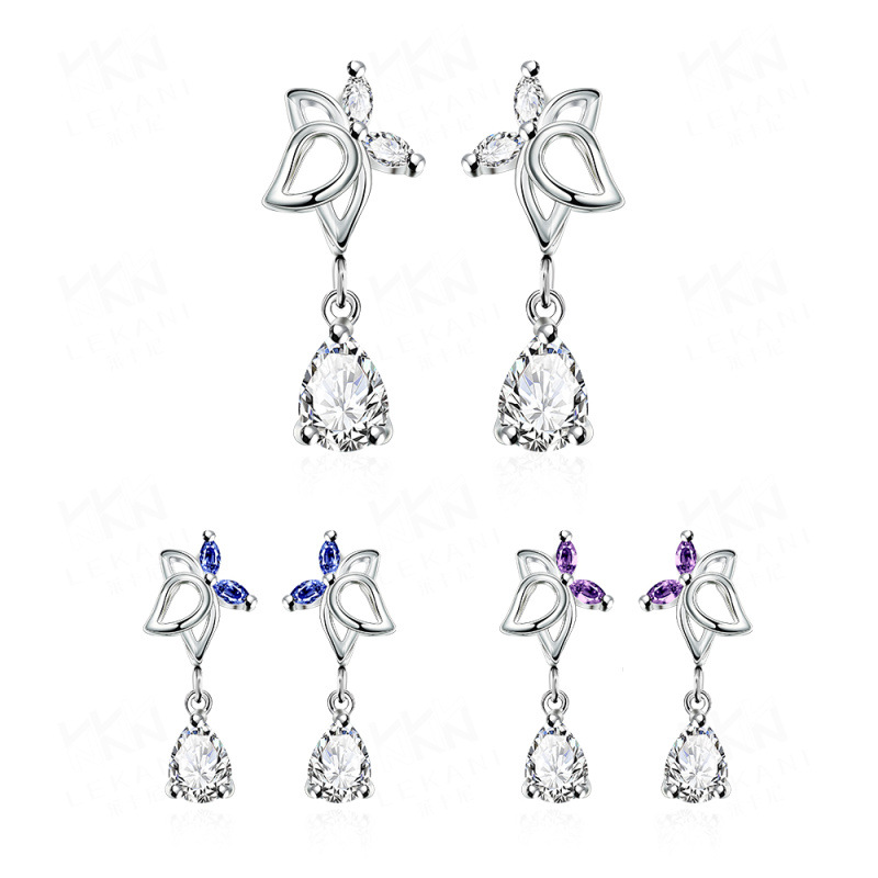 Silver Forest Earrings Diamond Earrings For Women SPE017