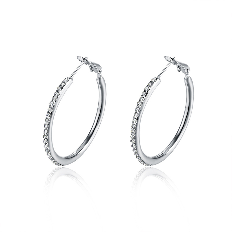 Fashion Jewelry Earings 925 Sterling Silver For Women LKN18KRGPE020