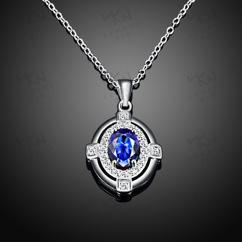 Fashion 925 Sterling Silver Crystal Necklaces For Women SPN012