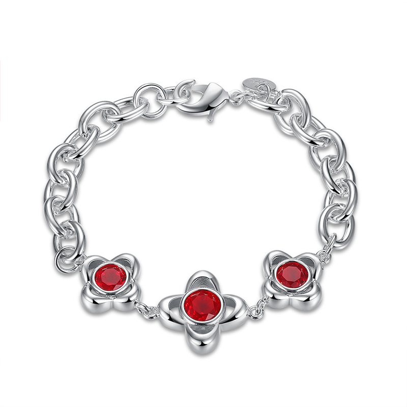 New Style Red Zircon Bracelet for Women LKNSPCH490