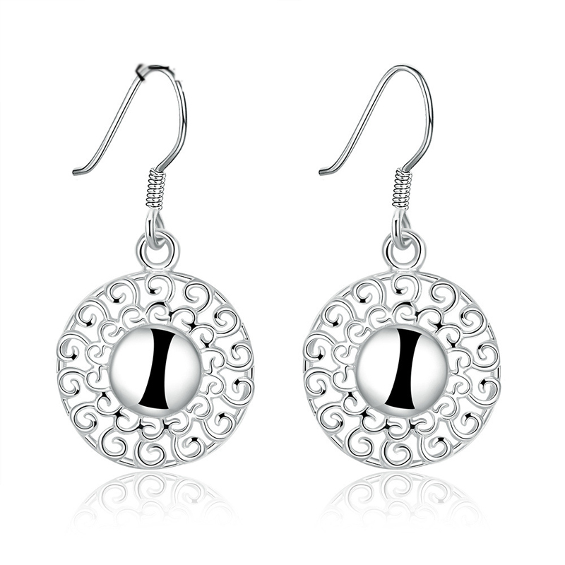 Crystal Pierced Dangle Drop Earrings For Women LKNSPCE657