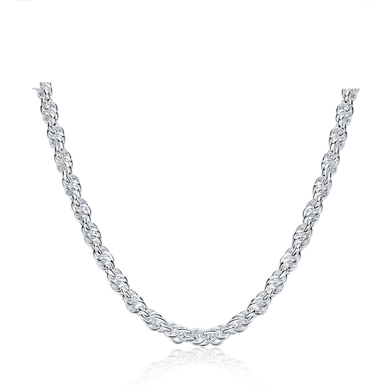 Hot Sale Simple Silver Necklace For Women LKNSPCN878