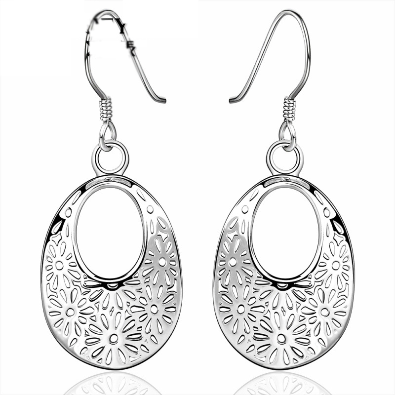 New Arrival Vintage Silver Plated Earrings For Women LKNSPCE581
