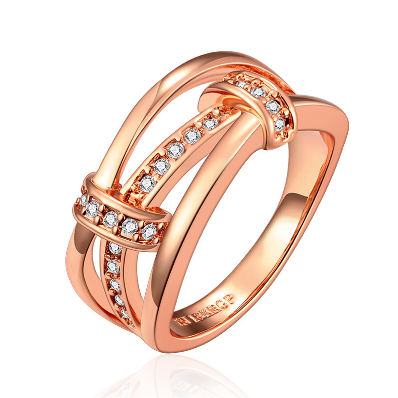 New Created Zircon Diamond Ring for Women LKN18KRGPR691