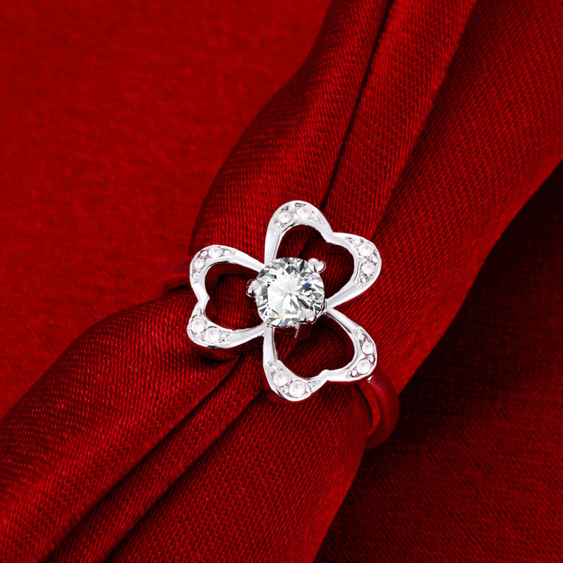 New Arrival Silver Flower Shaped Ring for Women SPR041