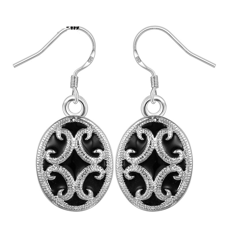 New Arrival Diamond Hook Dangle Earrings For Women LKNSPCE605