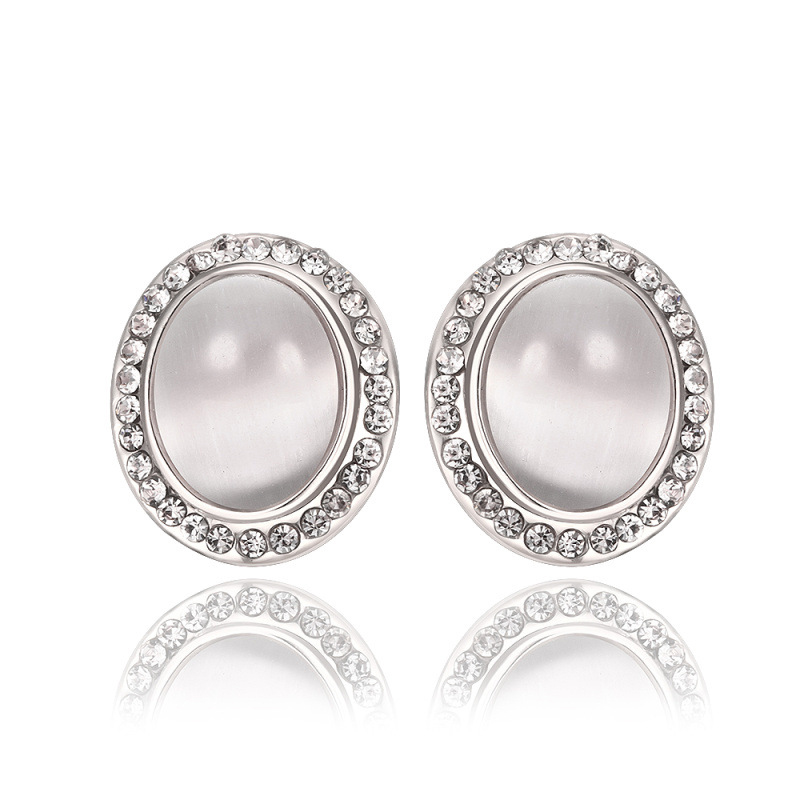New Arrival Fashion Diamond Crystal Earrings For Women LKN18KRGPE954