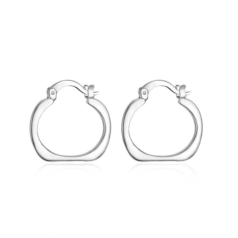 Popular Jewelry Silver Classic Earrings For Women LKNSPCE123
