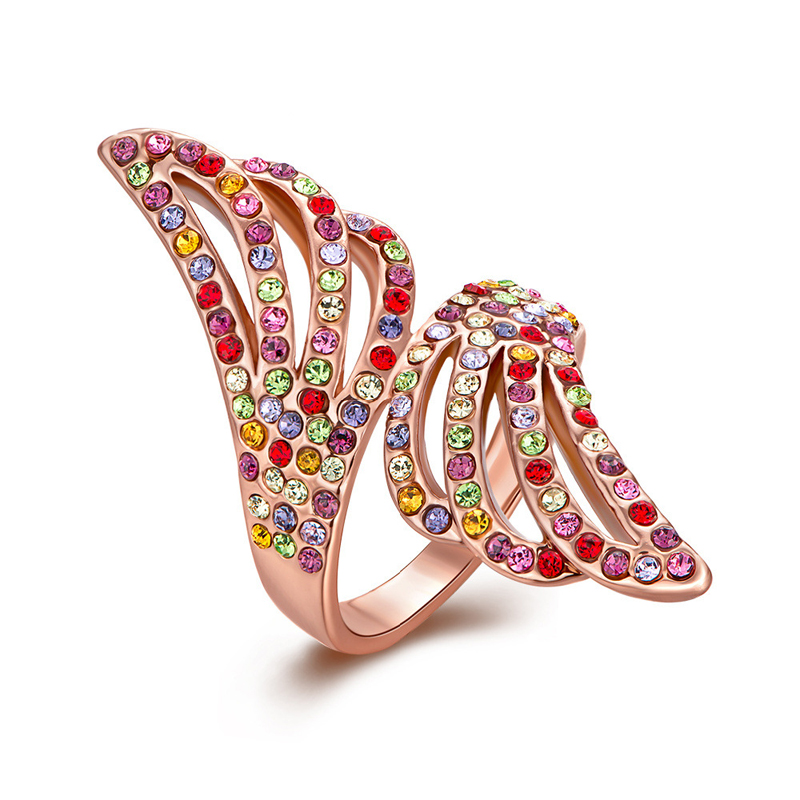 Geometry Angel Wings Diamond Ring for Women LKN18KRGPR324