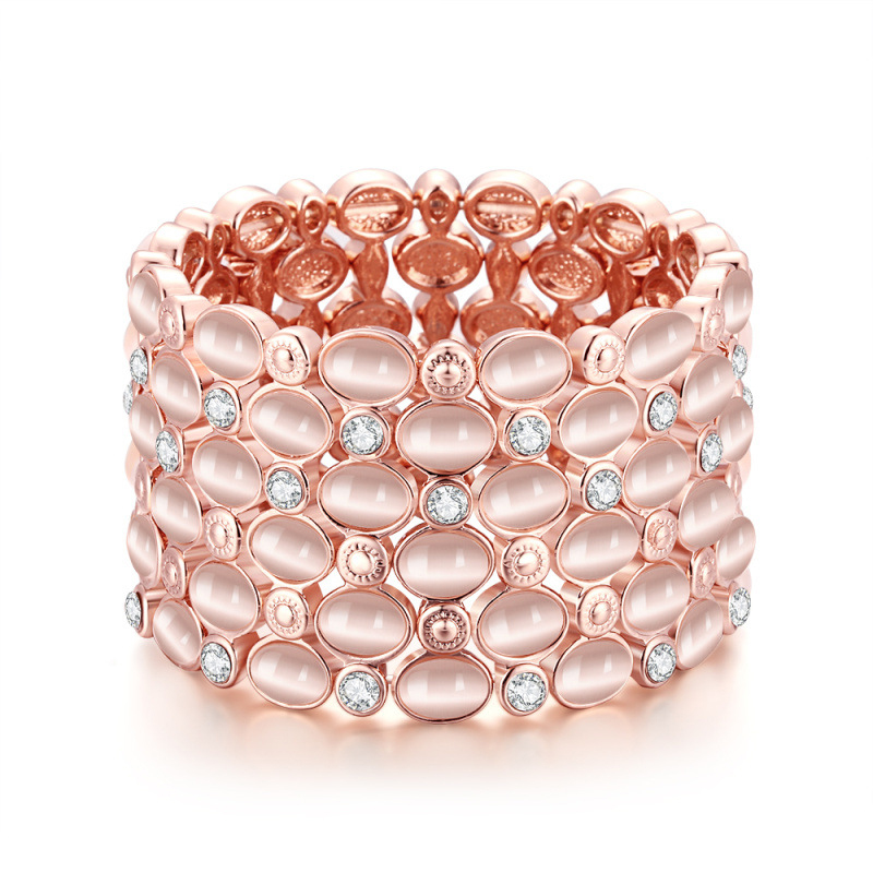 Crystal Diamond Elastic Bracelet for Women LKN18KRGPB117