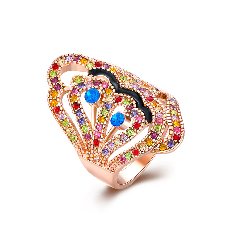 New Design Colorful Diamond Ring for Women LKN18KRGPR290