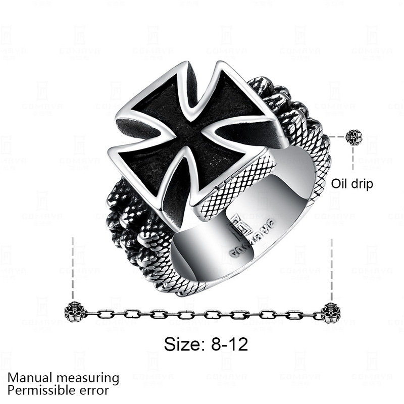 Fashion New Style Punk Cross Ring for Men GMYR224