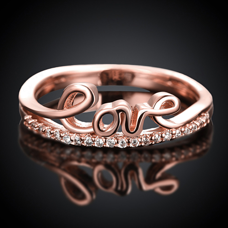 Romantic Ring with Cute LOVE Letters for Women KZCR171