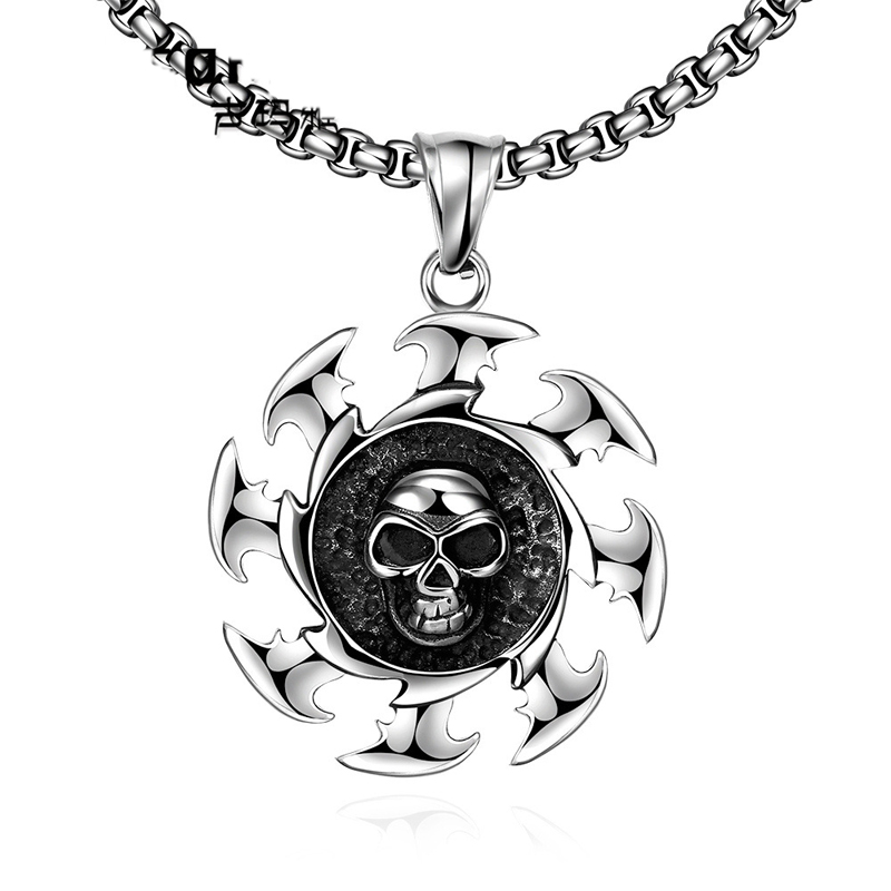 Fashion Skull Pendant Necklace For Men GMYN039
