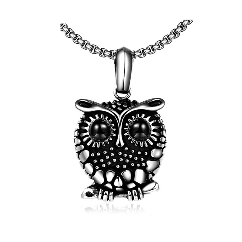 Vintage Style Creative Owl Pendant Necklace For Men GMYN073