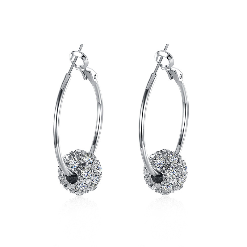 Fashion Diamond Earrings For Women LKN18KRGPE009