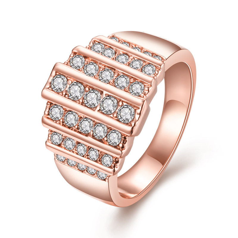 Cubic Zircon Diamond Rings for Women LKN18KRGPR709
