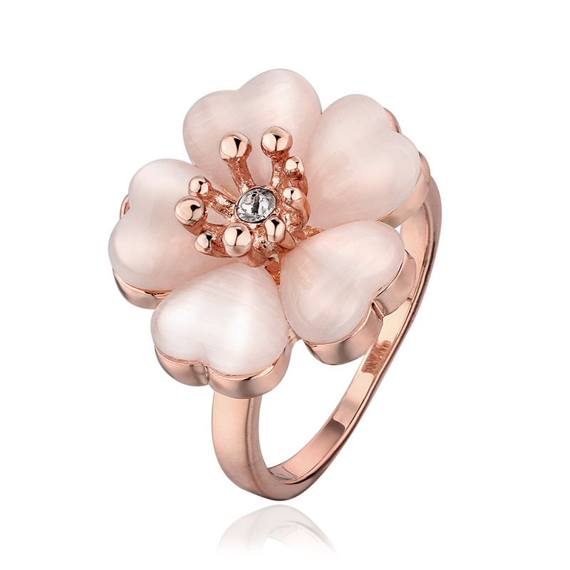 Flower Shape Opal Ring for Women LKN18KRGPR634