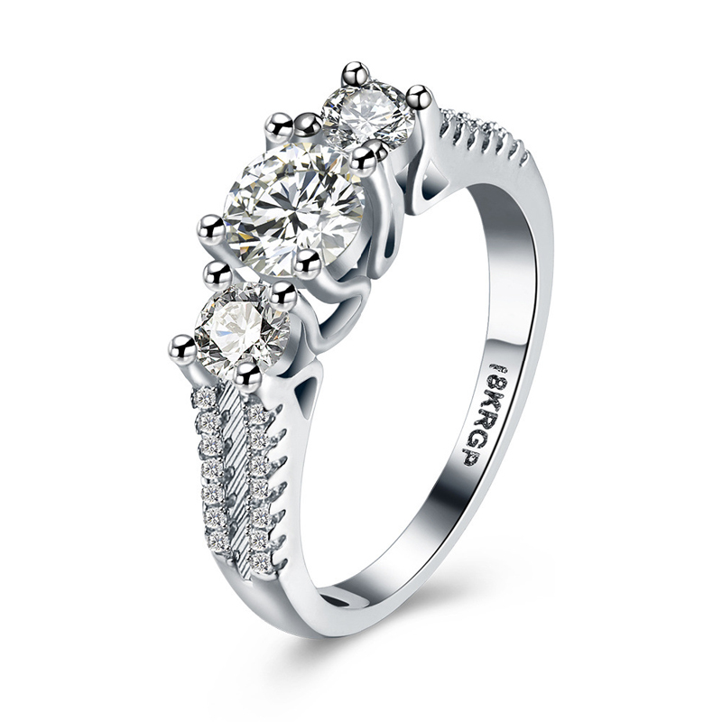New Fashion Silver Diamond Ring for Women LKN18KRGPR810-C