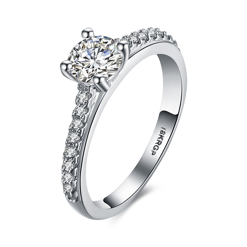 Silver Classic Diamond Ring for Women LKN18KRGPR818-C
