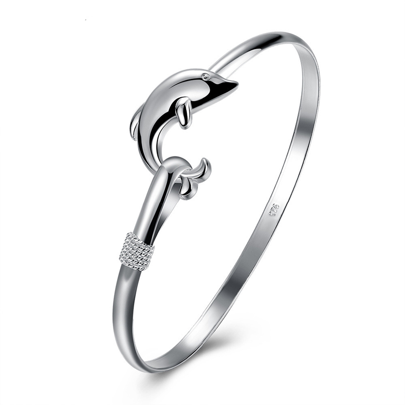 Dolphin 925 Sterling Silver Bracelet for Women LKNSPCB178