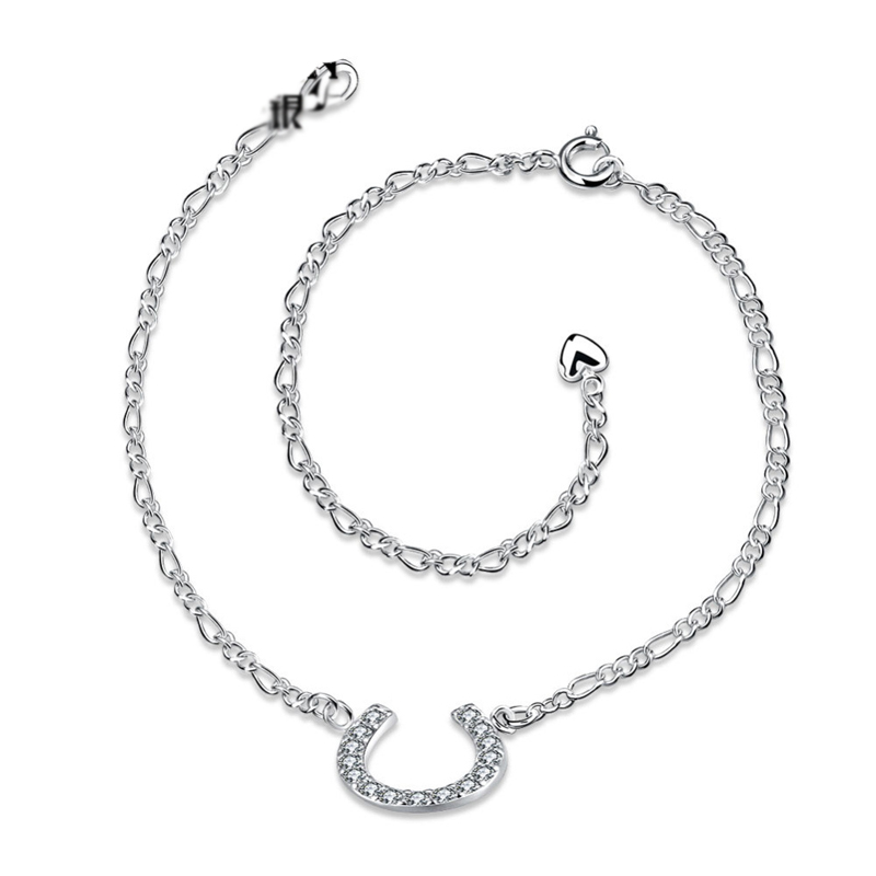 Fashion 925 Sterling Silver Anklets for Women LKNSPCA023