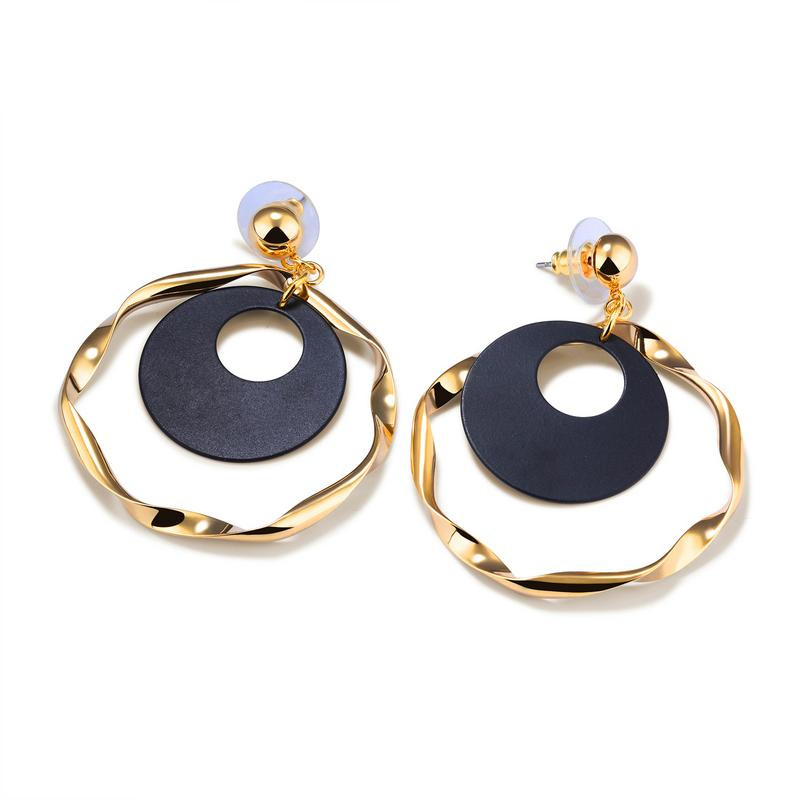 Vintage  Circle Design Drop Earrings Dangle Earrings For Women Ear Jewelry Earrings KE684