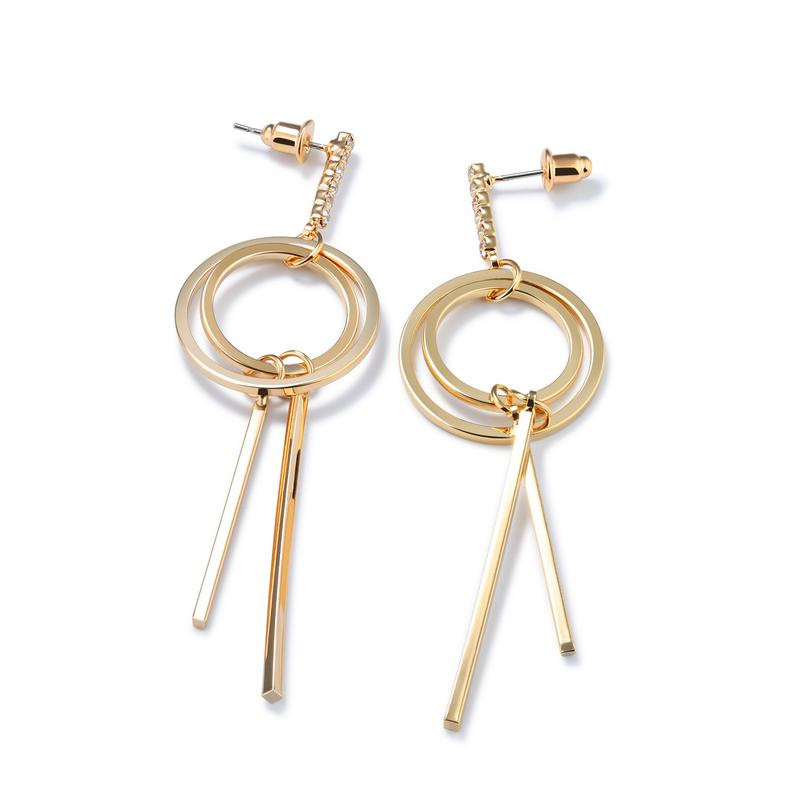 Simple Style Big Circle Pearl Earrings Drop Earrings For Women KE687