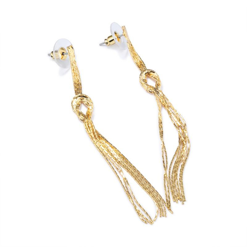 European Style Retro Long Drop Tassels Design Earrings For Women KE697