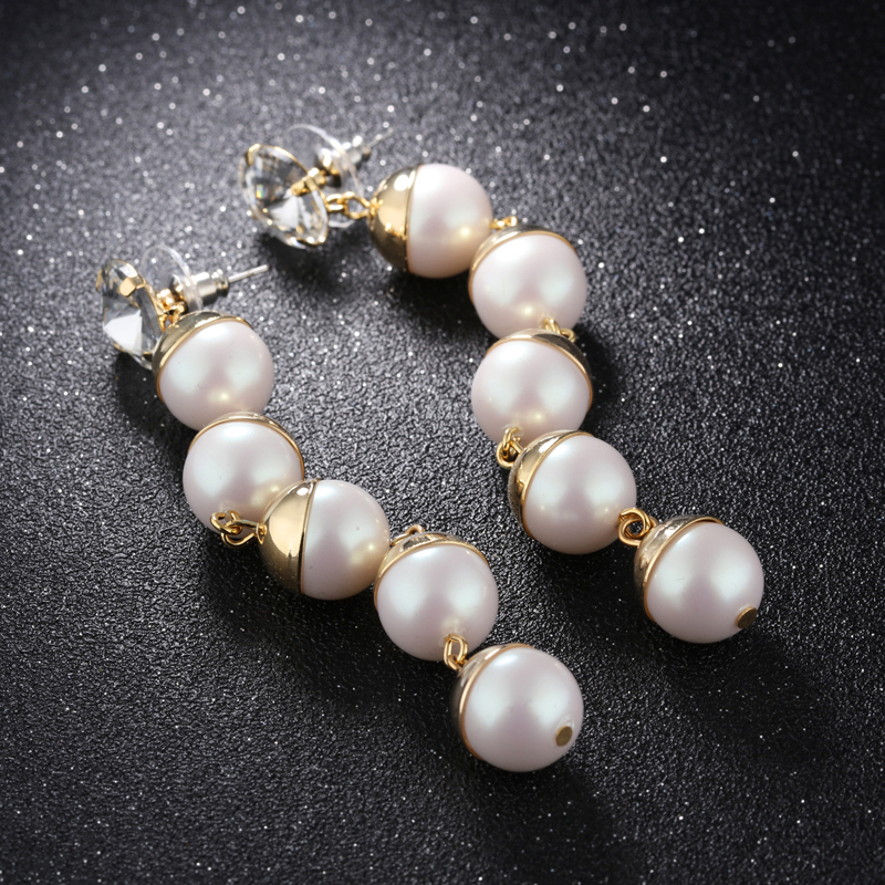 High Quality Pearl Drop Earrings Design Earrings For Women KE688